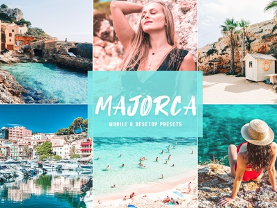 Free Majorca Mobile & Desktop Lightroom Presets premium portrait photography old mobile presets luxury lifestyle jpg instagram filter film edit desktop preset collection clean cinematic bundle blogger adobe lightroom