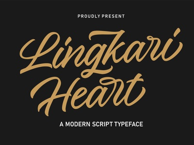 Free Lingkari Heart Handwritten Font branding logo graphic design illustration clean font creative modern