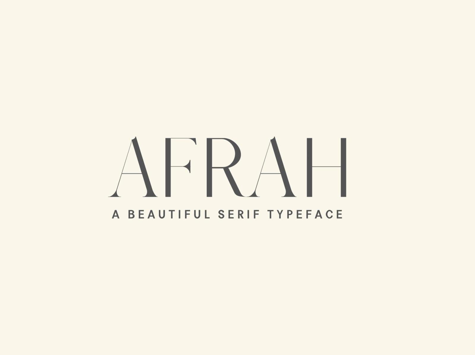 Afrah Serif Font Family Pack typeface letter font