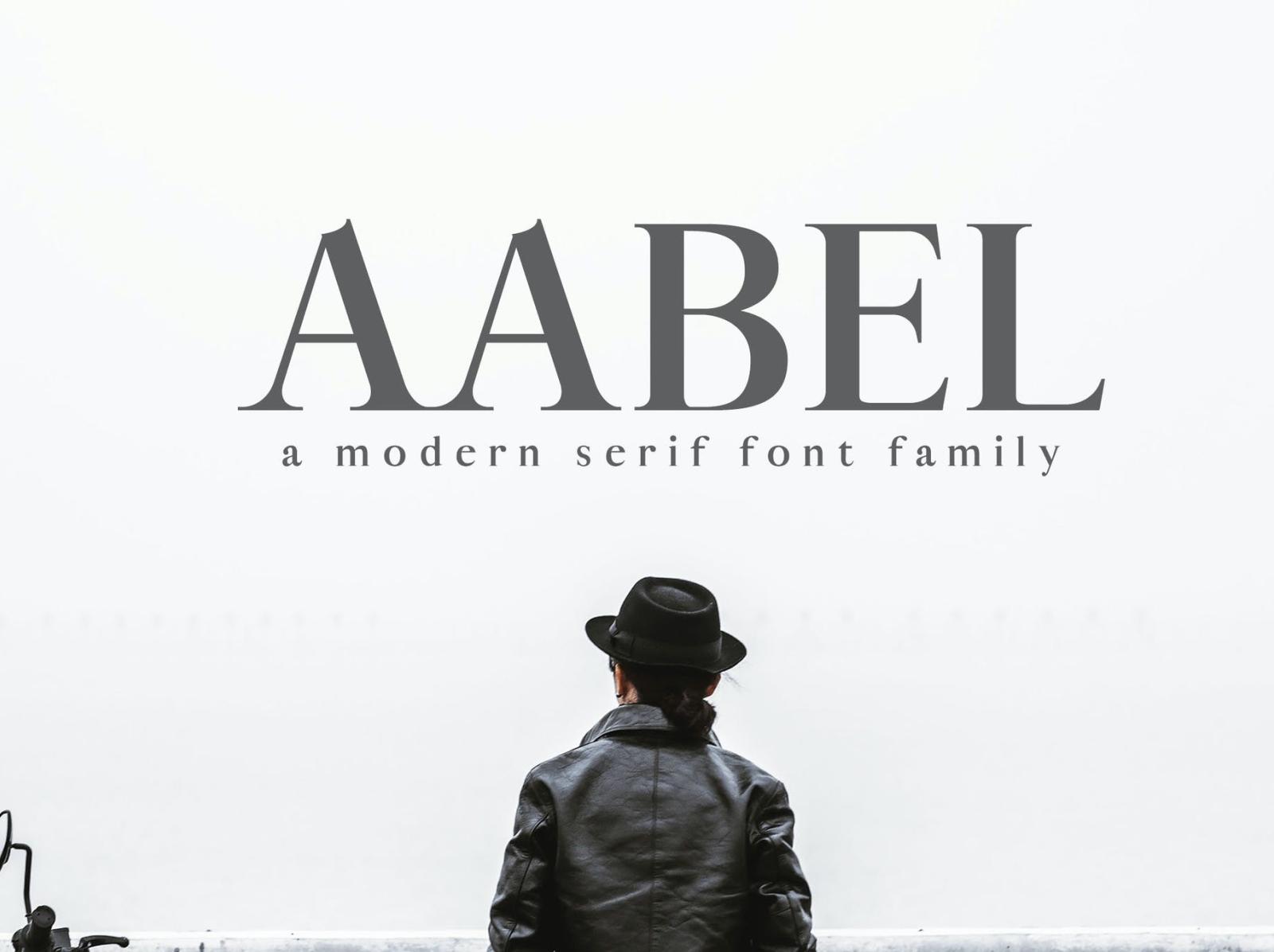 Aable Modern Serif Font Family serif font unique