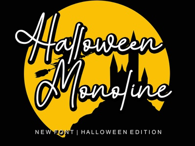Halloween Monoline Font Free Download illustration clean font creative design modern