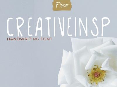 Creativeinsp Handwriting Font playful clean font creative textured design travel