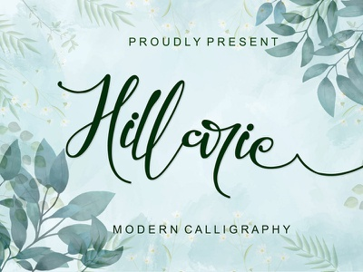 Hillarie Calligraphy Font Free pen