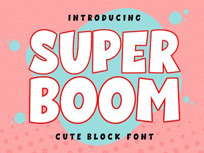 Super Boom Display Font hand drawn creative modern line font pen
