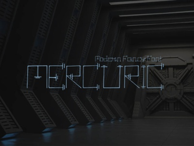 Mercuric Fancy Font - Free for 24 hours only set clean simple font style
