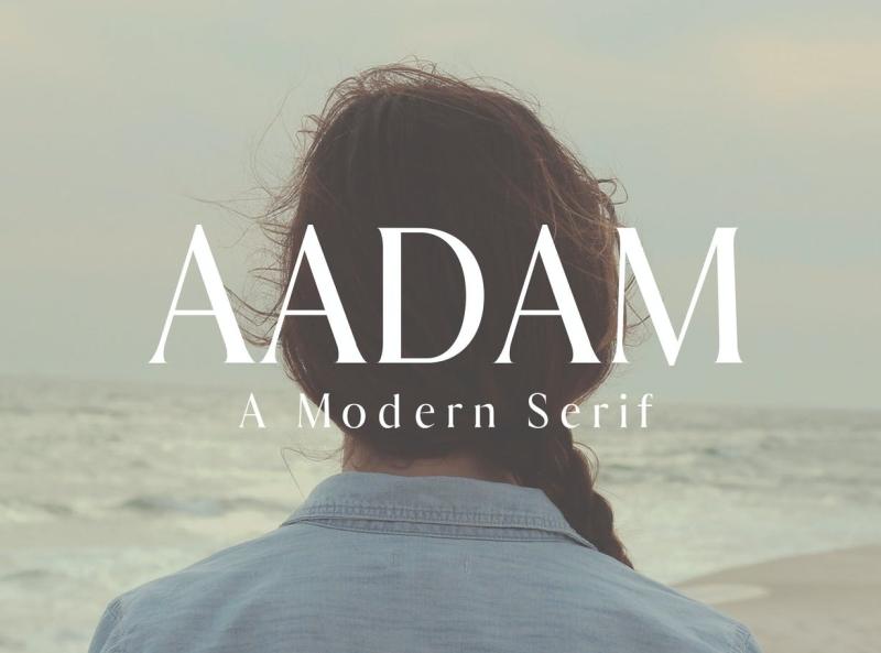 Aadam Modern Serif Font Family minimal modern