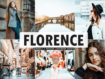 Free Florence Mobile & Desktop Lightroom Preset illustration modern design creative clean colorful lightroom presets neon