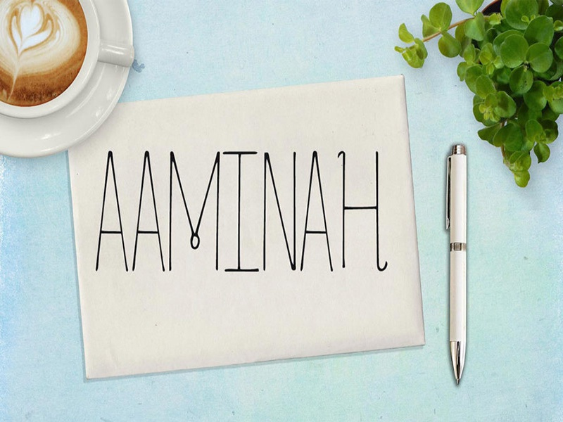 Free aaminah font cover 898x599