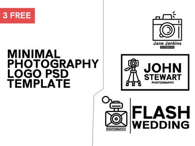 3 Free Minimal Photography Logo Template #1 by CreativeTacos - Dribbble