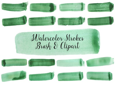 Watercolor Strokes PNG and Brush Vol. 2