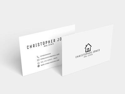 Free Real Estate Minimal Business Card developer design creative corporate coder clean card call business card business bold black