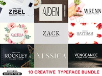 10 Creative Typeface Bundle For $9