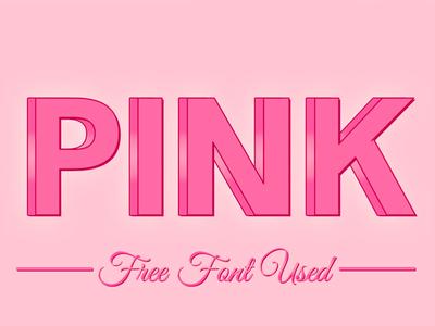 Free 3D Pink Femenine PSD Text Effect mock up metal style logo mockup logo mock-up logo mock up gold style 3d tekst style 3d style 3d mock-up 3d mock up 3d