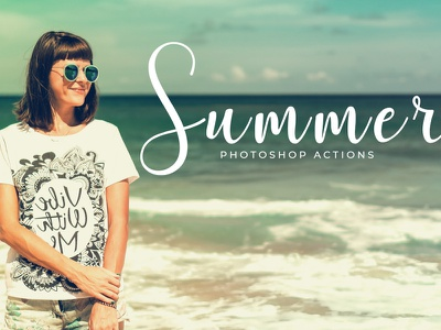 Free Summer Photoshop Actions realistic real professional premium portrait photographer photo effect matte j-studio hipster hdr glow glamour digital art creative clean beauty bw art 1 click action