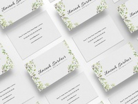 Floral Designer Business Card Template