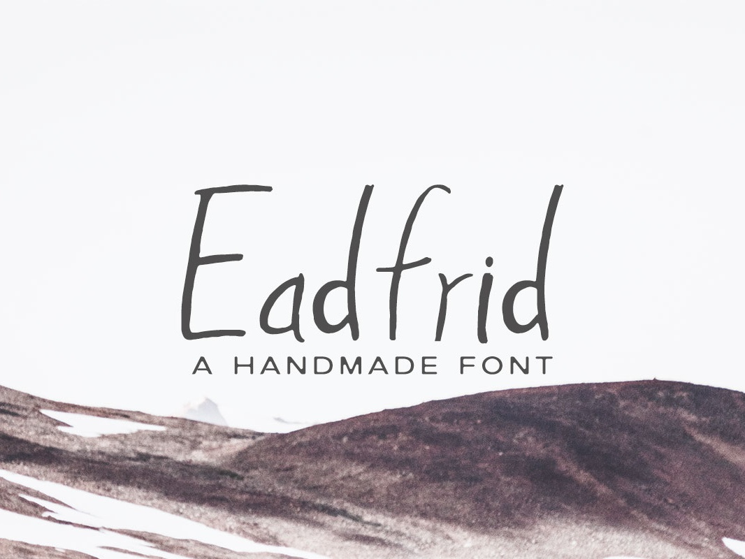Free Eadrifd Handmade Font lettering fonts hand-lettered fonts handwriting fonts wedding fonts symbol sans-serif sans quote printing type print poster modern letters lettering letter handmade font display characters character