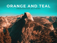 Orange and Teal Free Photoshop Actions