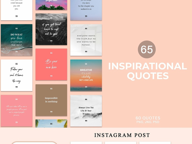 65 Inspirational Quotes Pack By Creativetacos Dribbble Dribbble