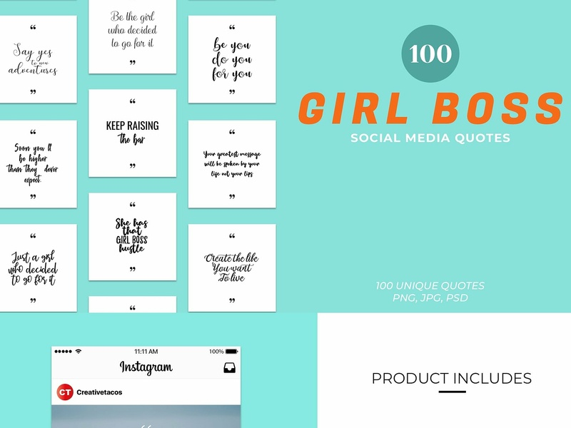 Girl Boss Social Media Quotes By Creativetacos On Dribbble