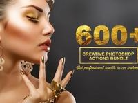 600+ Creative Photoshop Actions Kit