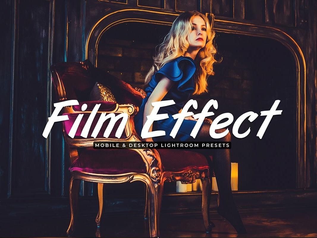 Film Effect Mobile Desktop Lightroom Presets by