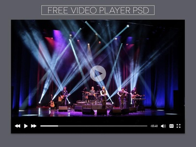 New Free YouTube player UI PSD Download