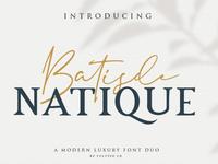 Free Batisde Modern Script Font