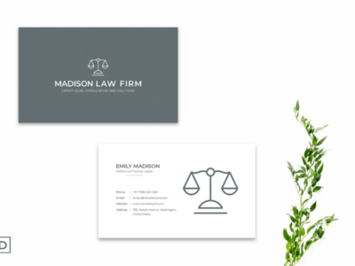 Simple Minimal Business Card Ver. 3 branding stylish template minimal simple premium business card firm card law card arts shot dribbble best shot art work illustration business card business card