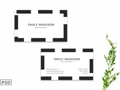Simple Business Card Template Ver. 2 illustration mockup design photography card design template professionals 300dsi work card business card shot dribbble best shot