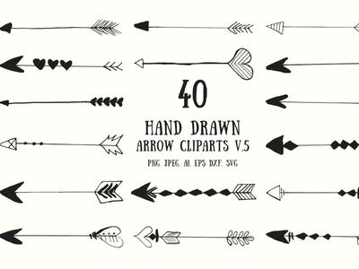 30+ Hand Drawn Arrows Cliparts Ver.5 creative creative design dribbble best shot shot png premium quality illustraion 300 dpi 300dpi arrow logo arrow clipart hand drawn clip art clipart arrow arrows
