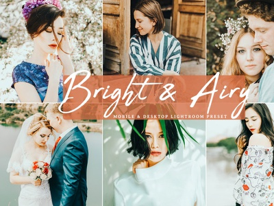 Free Bright & Airy Lightroom Preset branding presets lightroom presets design desktop design photography dribbble dribbble best shot freebie free mobile ui ux illustration download design art