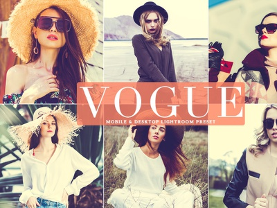 Free Vogue Mobile & Desktop Lightroom Preset branding presets lightroom presets design desktop design photography dribbble dribbble best shot freebie free mobile ui ux illustration download design art