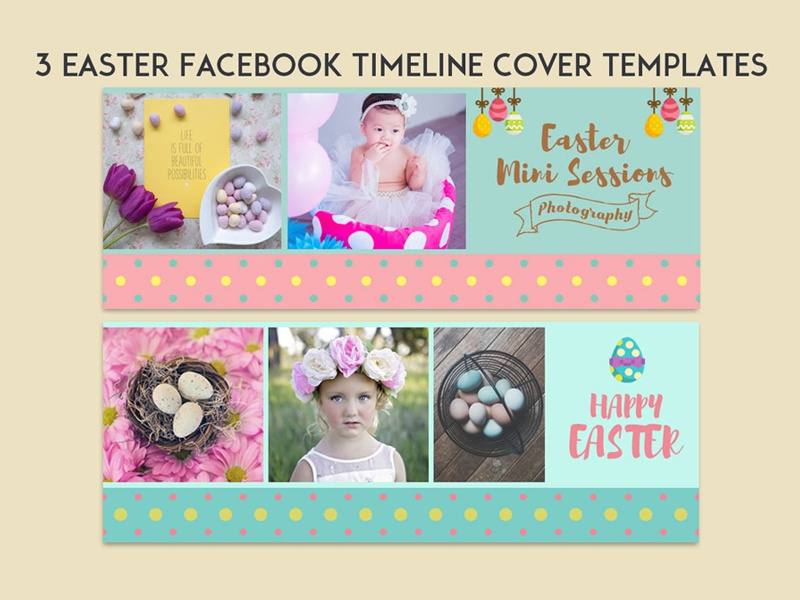 3 free easter facebook cover template psd by mohammad usama