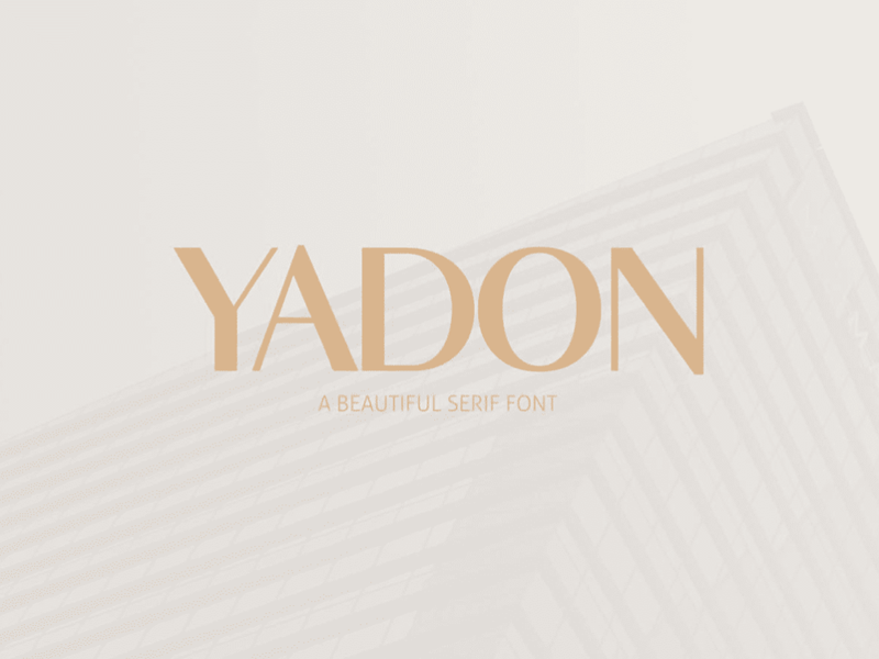 Free yadon serif font featured 1198x798