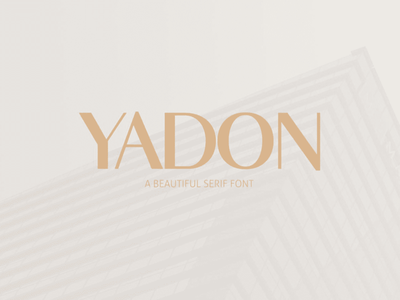 Free Yadon Serif Font headline title serif fashion digital print branding logo magazine collection store commerce