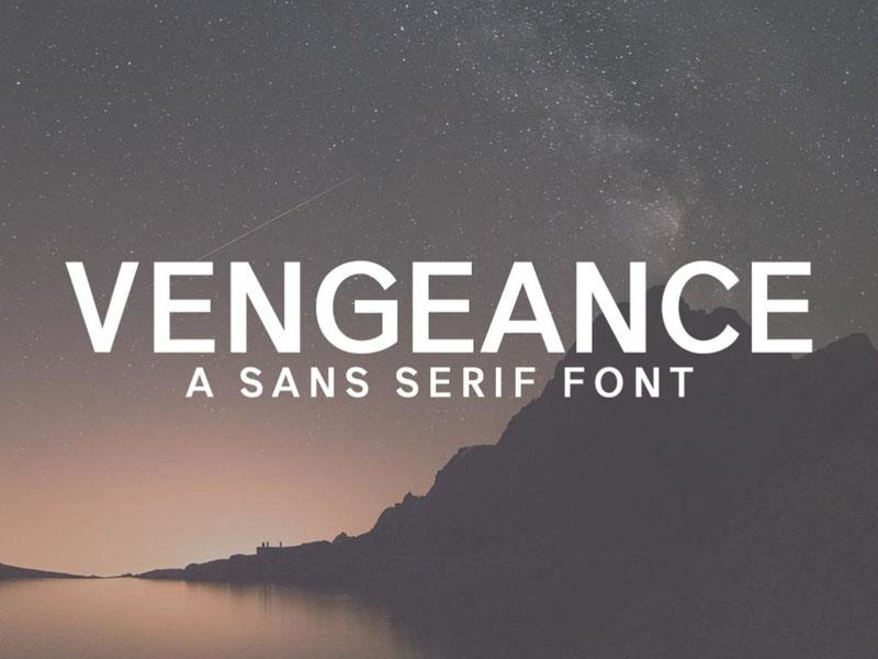 Free Vengeance Demo Font