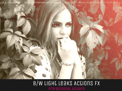 10 Free BW Light Leaks Photoshop Actions V1 actions cs3 filter filters free photoshop vintage family