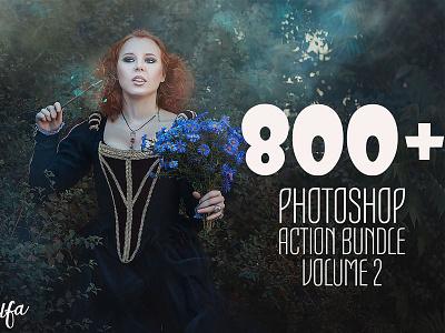 800 Photoshop Action Bundle 2 cs6 cs4 adobe premium actions professional set cc cs3 atn photoshop action