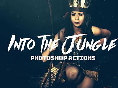 Into the Jungle Photoshop Actions cs6 cs4 adobe premium actions professional set cc cs3 atn photoshop bundle