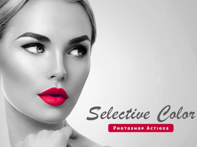 Selective Color Pro Actions image effects atn action selective professional premium photoshop photography effect create color
