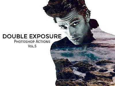 Double Exposure PS Actions Vol.5 exposure elements effect double cs6 cs5 cs4 cs3 cc bw blending blend