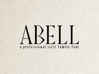 Abell Font 6 Font Family