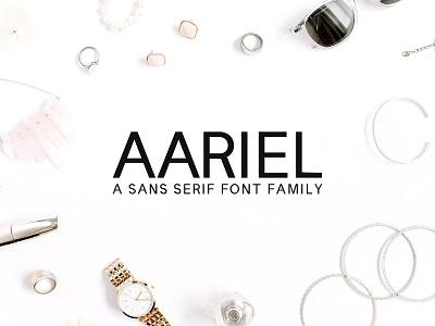 Aariel Sans Serif 7 Font Family Pack fonts love weight multi lowercase multilingual regular thin family ttf otf font