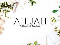 Ahijah A Clean Serif 3 Font Family