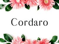 Cordaro Sans Serif 2 Font Family