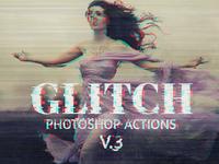 Glitch Photoshop PSD Template V.3