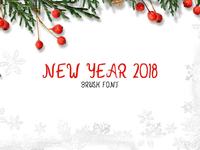 New Year 2018 Brush Font