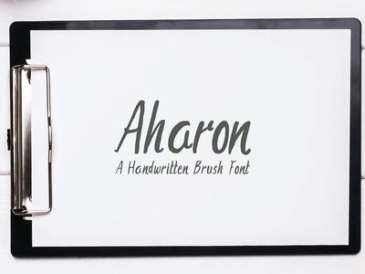 Aharon Handwritten Brush Font hand-lettered love fonts cute handwriting brush handmade font lovely