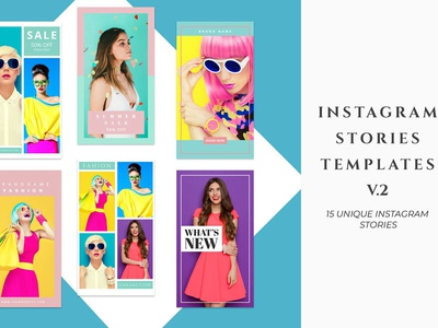 Instagram Stories Templates V.2 photographer multipurpose woman business photoshop promotion template fashion post beautiful minimal clean