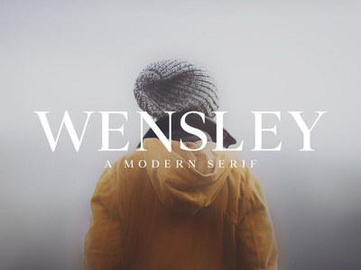 Wensley Modern Serif Font Family class high classy editorial minimal modern font serif